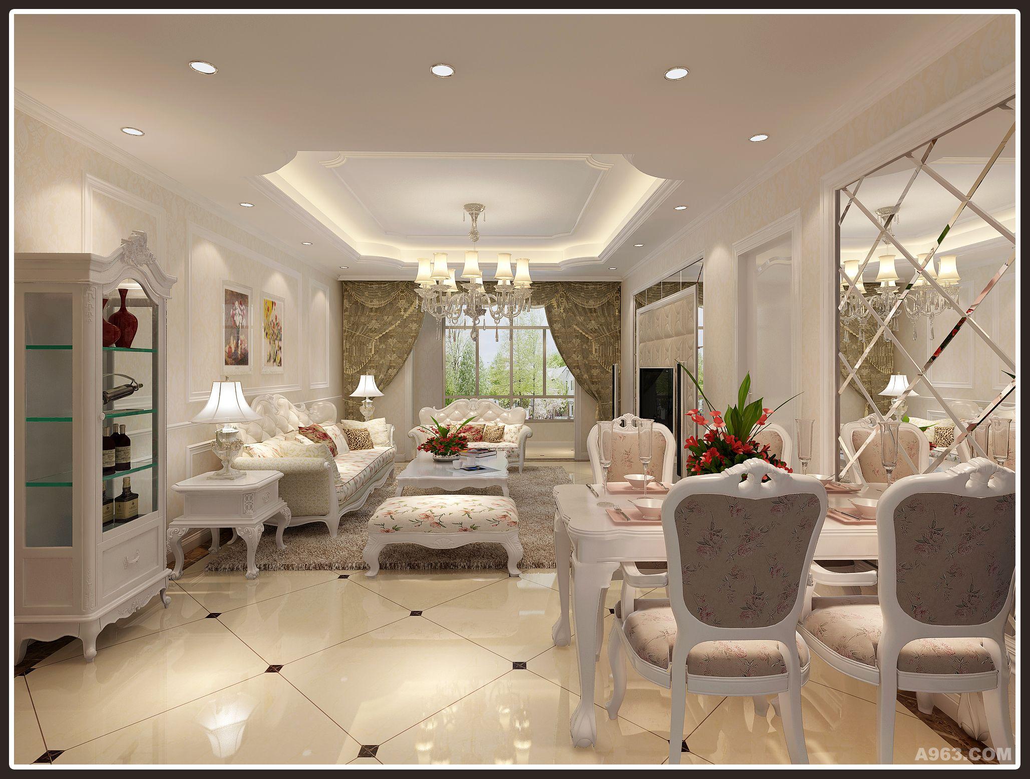 施工单位:梵客家装 设计说明:三口之家,业主比较喜欢浅色 欧式风格